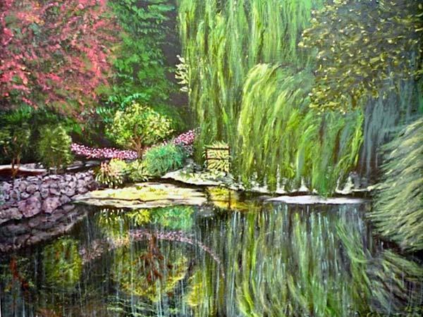 """""""Buchart Gardens II"""", acrylic, 18x24"""