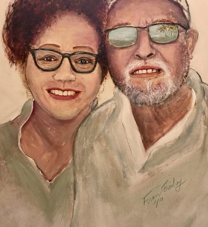 """Regina & Joel"", acrylic 20x20"