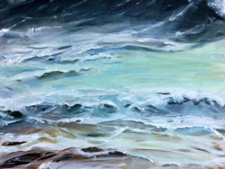 """Wave"", acrylic, 24x30"